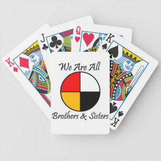 Native American 4 Directions gear Bicycle Playing Cards