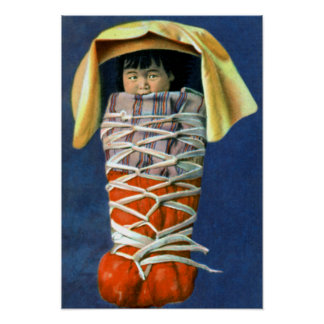 Native American Baby in Cradleboard Poster