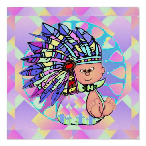 Native American Baby Poster