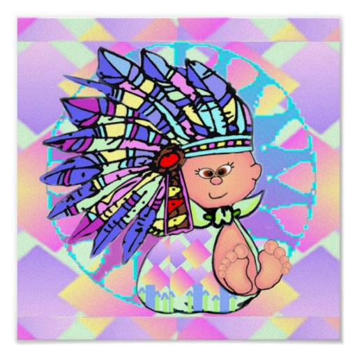 Native American Baby Print on Canvas