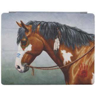Native American Bay Pinto War Horse iPad Cover