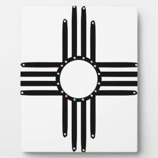 Native American beaded Zia Display Plaque