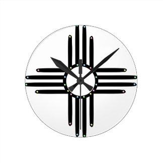 Native American beaded Zia Round Clock