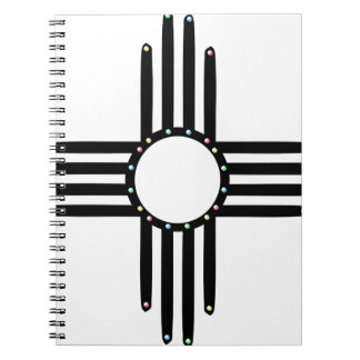Native American beaded Zia Spiral Note Book