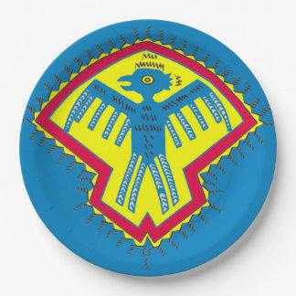 Native American bird Paper Plate