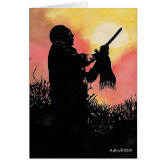 Native American Blank Card Evening Song
