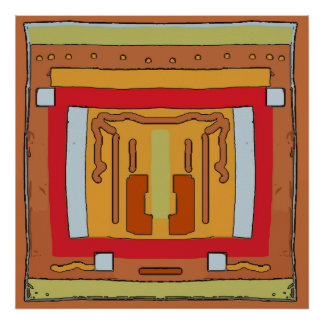Native American Blanket Abstract 1 Poster
