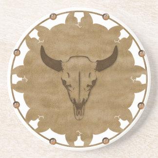 Native American Bull Skull Coaster