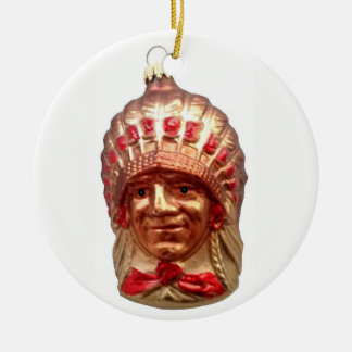 Native American Chief Ceramic Ornament