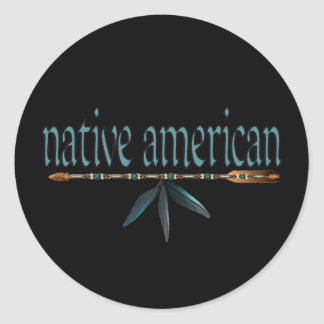 native american classic round sticker