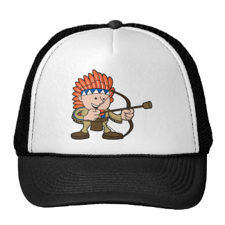 Native American Costume Mesh Hat