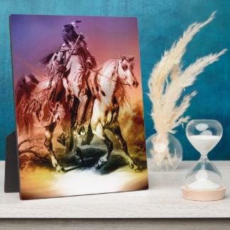 Native American Display Plaque