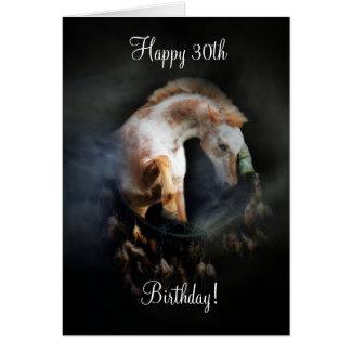 Native American Dream Catcher & Horse 30th Bday Card