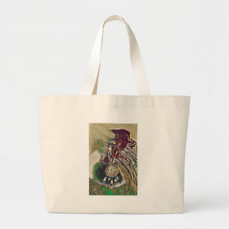Native American Dreamcatcher Large Tote Bag