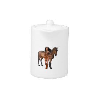Native American Girl Bay Horse