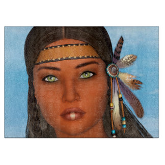 Native American Girl Cutting Board