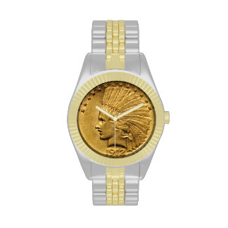 Native American Gold Coin Wristwatches