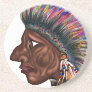 Native American Head Coaster