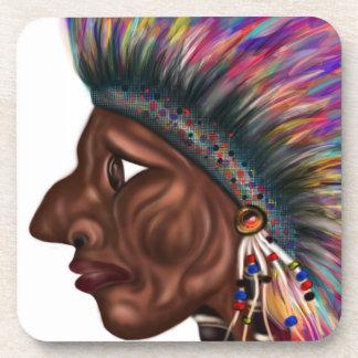 Native American Head Coasters