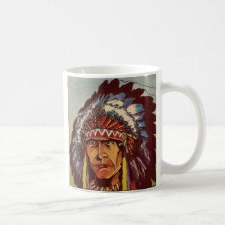 Native American Headdress Chief Coffee Mug