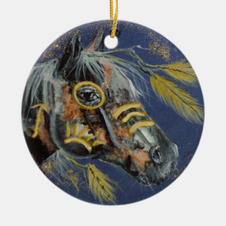 Native American Horse, Every Day Ornament, Horses Ceramic Ornament