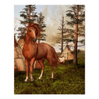 Native American Horse Poster