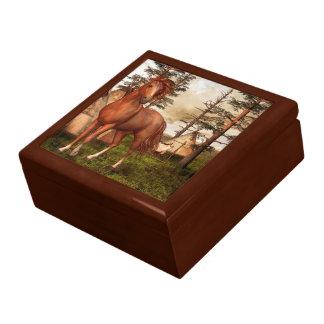 Native American Horse Trinket Box
