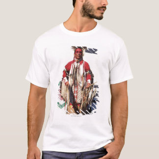 Native American in traditional garments at T-Shirt