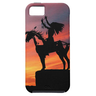 Native American Indian and horse iPhone 5 Cases