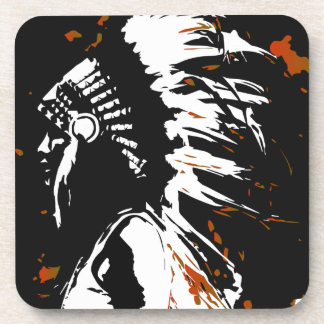 Native American Indian Beverage Coasters