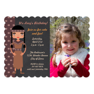 Native American Indian Birthday Party Invitation