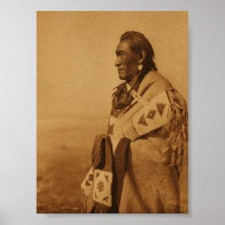 Native American Indian Blackfoot Art Print Poster