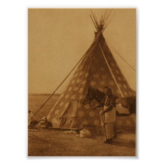 Native American Indian Blackfoot TeePee Art Poster