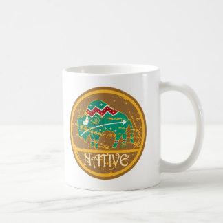 Native American Indian Buffalo Basic White Mug