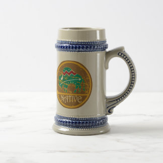 Native American Indian Buffalo Beer Steins