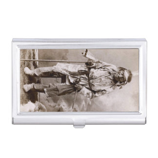 Native American Indian Chief Big Hand Cabinet Business Card Holder