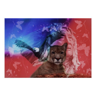 Native American Indian Chief Poster