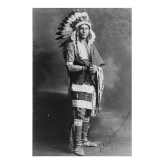 Native American Indian Chief Strong Arm Circa 1909 Photo Print