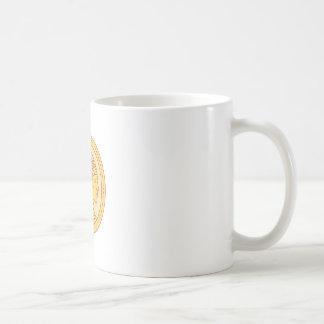 Native American Indian Chief Warrior Mono Line Coffee Mug