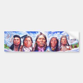 native american indian chiefs bumper sticker