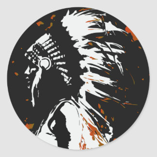 Native American Indian Classic Round Sticker