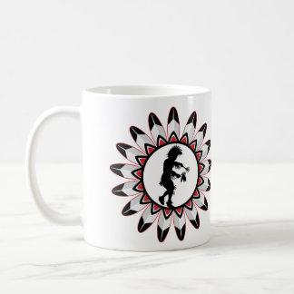 Native American Indian Dance Basic White Mug
