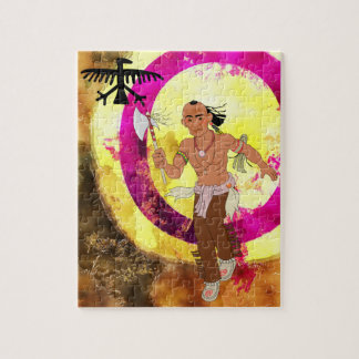 Native American Indian Dancer Jigsaw Puzzle