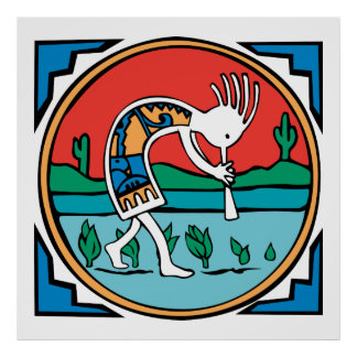 Native American Indian Kokopelli Poster