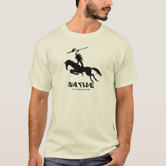 Native American Indian on horse ink pen drawing T-Shirt