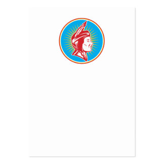 Native American Indian Squaw Woman Business Card Template