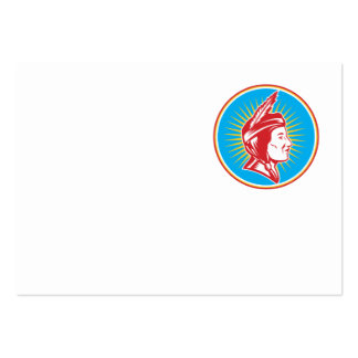 Native American Indian Squaw Woman Business Card