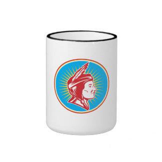 Native American Indian Squaw Woman Coffee Mugs