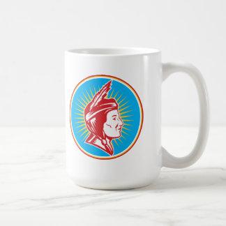 Native American Indian Squaw Woman Mug