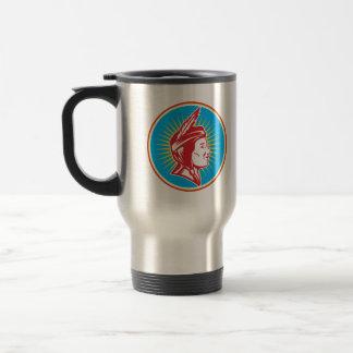 Native American Indian Squaw Woman Coffee Mug
